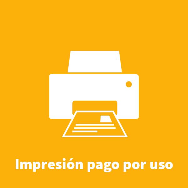 Impresión pago por uso
