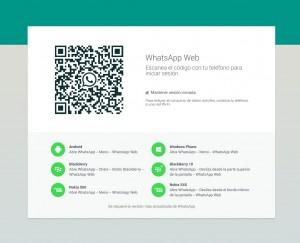 Pantalla de Whatsapp para PC