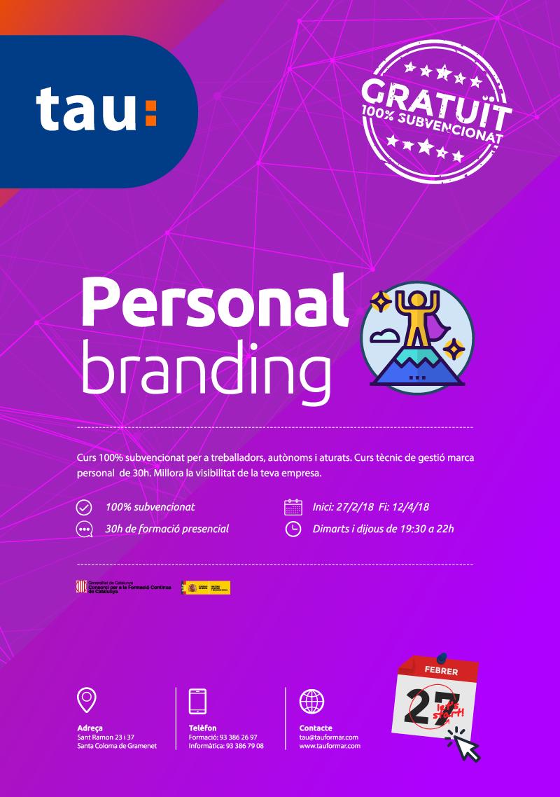 curso de personal branding en Tau Formar