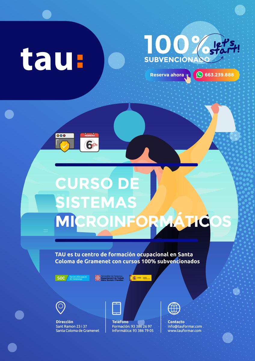 Curso de sistemas microinformáticos de Formación Ocupacional en Santa Coloma de Gramenet con TAU.