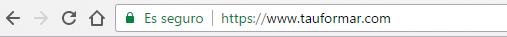 Protocolo de seguridad https implementando en la web de Tauformar