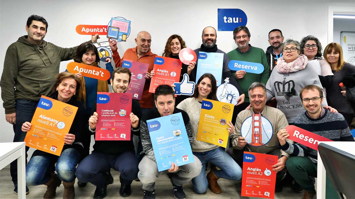 nuevos cursos de formación ocupacional para paradados en Santa Coloma de Gramenet con Tau Formar
